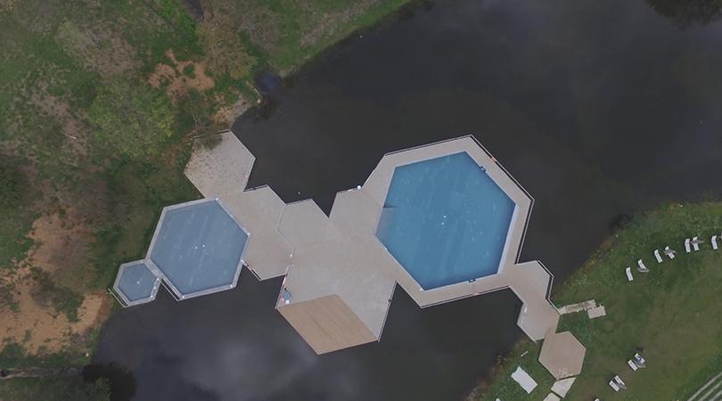 Piscinas en la laguna de monte do gozo | Premis FAD 2018 | Town and Landscape