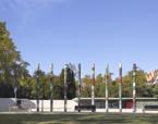 Columnes Commemoratives dels 30 anys de la reconstrucció del pavelló Alemany a Barcelona | Premis FAD 2017 | Intervenciones Efímeras