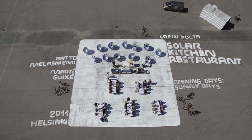 Solar kitchen restaurant | Premis FAD 2014 | Intervenciones Efímeras
