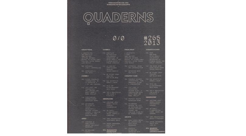 Quaderns d'arquitectura i urbanisme #265 | Premis FAD 2015 | Pensamiento y Crítica