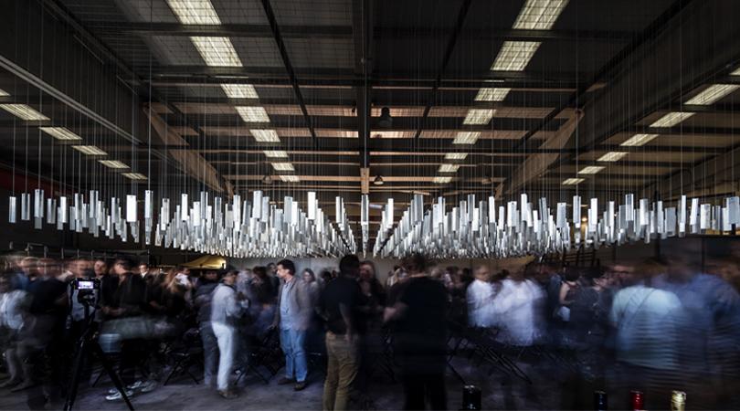 Catifa d'alumini 9x16m | Premis FAD 2017 | Intervenciones Efímeras